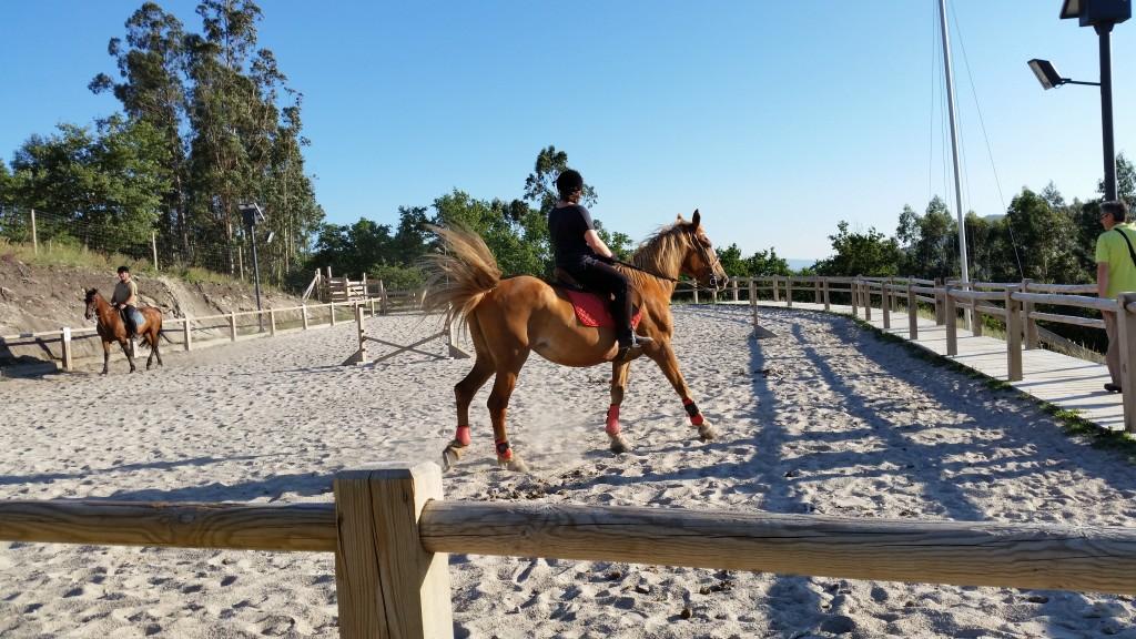 Actividades de Hípica, clases equitación, paseos o rutas a caballo.... en el Ecoparque de Marin o en el Ecoparque de Atalaia en Cotobade