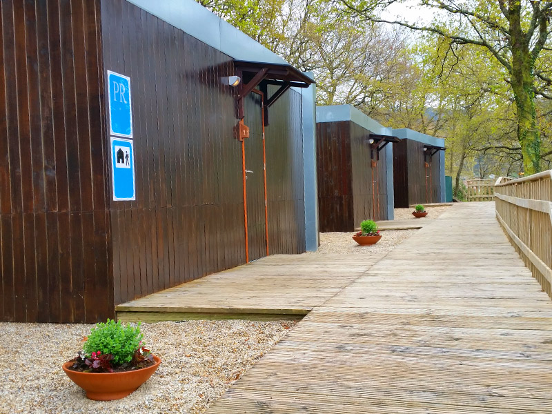 Bungalows totalmente equipados en Ecoparque Atalaia en Pontevedra